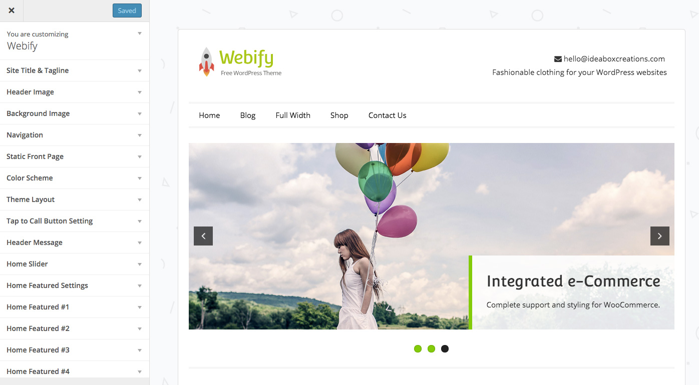 webify-customizer