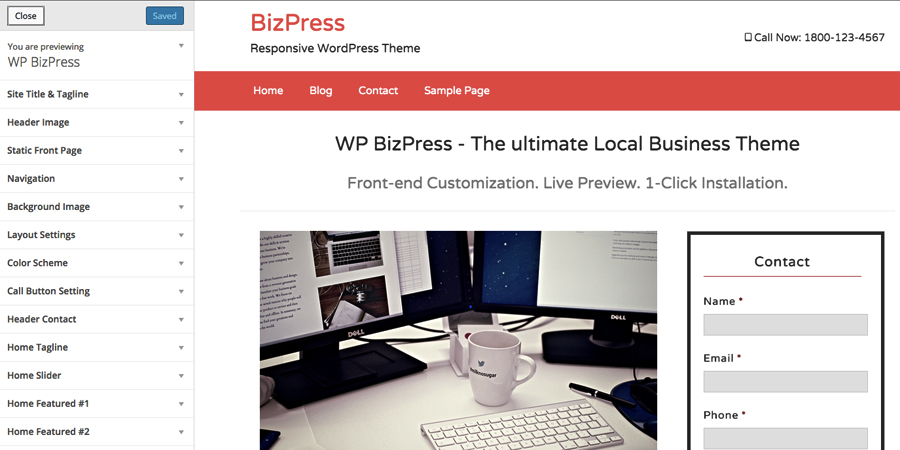 bizpress-live-preview